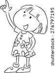 little girl pointing up | Shutterstock .eps vector #276797195
