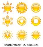 Set Of Emoji Vector Suns. Suns...