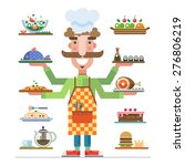 chef offers a range of... | Shutterstock .eps vector #276806219