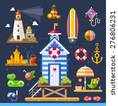 summer beach. living near the... | Shutterstock .eps vector #276806231