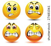 smiling balls with different... | Shutterstock .eps vector #27681061