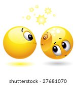 smiley ball uses another smiley ... | Shutterstock .eps vector #27681070