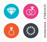 circle buttons. rings icons.... | Shutterstock .eps vector #276813125