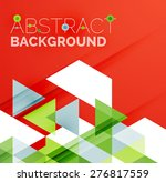 abstract geometric background.... | Shutterstock .eps vector #276817559