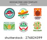mexican food logo. vector... | Shutterstock .eps vector #276824399