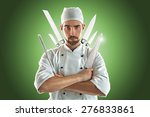 chef with various knifes | Shutterstock . vector #276833861
