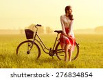 woman on a bicycle | Shutterstock . vector #276834854