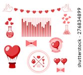 romantic set. heart | Shutterstock .eps vector #276834899