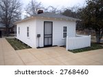 Birthplace of Elvis in Tupelo, Rear view - stock photo