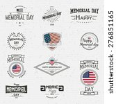 memorial day  badges logos and... | Shutterstock .eps vector #276851165