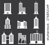 building icons set | Shutterstock .eps vector #276852149