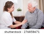 senior smiling male pensioner... | Shutterstock . vector #276858671
