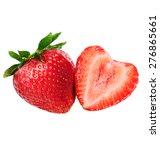 strawberries isolated on white  | Shutterstock . vector #276865661