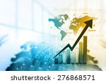 economical stock market graph | Shutterstock . vector #276868571