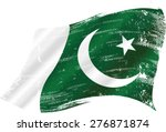 pakistani grunge flag. flag of... | Shutterstock .eps vector #276871874