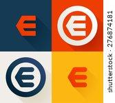 e letter line logo set  design... | Shutterstock .eps vector #276874181