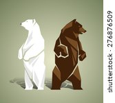 geometric white and brown bears | Shutterstock .eps vector #276876509