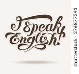 vector shapes for lettering... | Shutterstock .eps vector #276877241