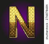 n vector golden letter | Shutterstock .eps vector #276878684