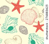 marine vector seamless pattern... | Shutterstock .eps vector #276883625