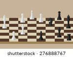 picture of chessboard and chess ... | Shutterstock .eps vector #276888767