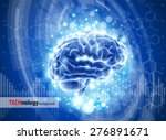 brain   blue technology concept ... | Shutterstock .eps vector #276891671