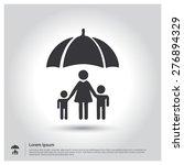 family life insurance icon .... | Shutterstock .eps vector #276894329