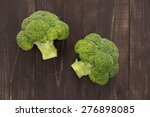 fresh green broccoli on the... | Shutterstock . vector #276898085