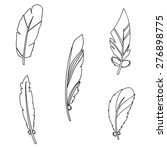 vector graphic set with feathers | Shutterstock .eps vector #276898775