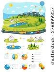 infrastructure flat  landscape... | Shutterstock .eps vector #276899357