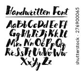 hand drawn alphabet written... | Shutterstock .eps vector #276900065