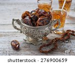 traditional arabic tea and dry... | Shutterstock . vector #276900659