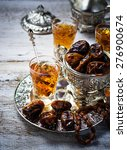 traditional arabic tea and dry...   Shutterstock . vector #276900674
