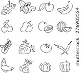 vegetables and fruits icons... | Shutterstock . vector #276902534