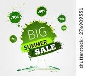 vector watercolor banner with... | Shutterstock .eps vector #276909551