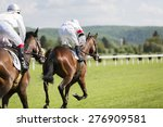 two riders on the racing... | Shutterstock . vector #276909581