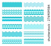 collection of marine waves. sea ... | Shutterstock .eps vector #276909584