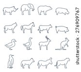 animal vector icons.elements... | Shutterstock .eps vector #276909767