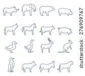animal vector icons.elements... | Shutterstock .eps vector #276909767