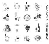 elegant wine set of vintage... | Shutterstock .eps vector #276910997