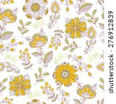 seamless pattern in vintage... | Shutterstock .eps vector #276912839