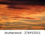 sunset sky  | Shutterstock . vector #276915311