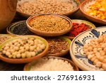 various grain beans in small... | Shutterstock . vector #276916931