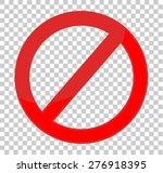 not allowed sign   Shutterstock .eps vector #276918395