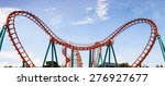Roller Coaster  Rail Way Curve...