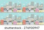 horizontal cityscape seamless... | Shutterstock .eps vector #276930947