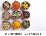 Variety Of Indian Spices In...