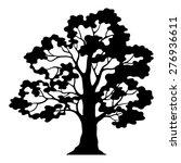 oak tree pictogram  black...   Shutterstock .eps vector #276936611