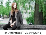 portrait of a beautiful young...   Shutterstock . vector #276942341