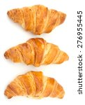 Fresh Croissant Isolated On...